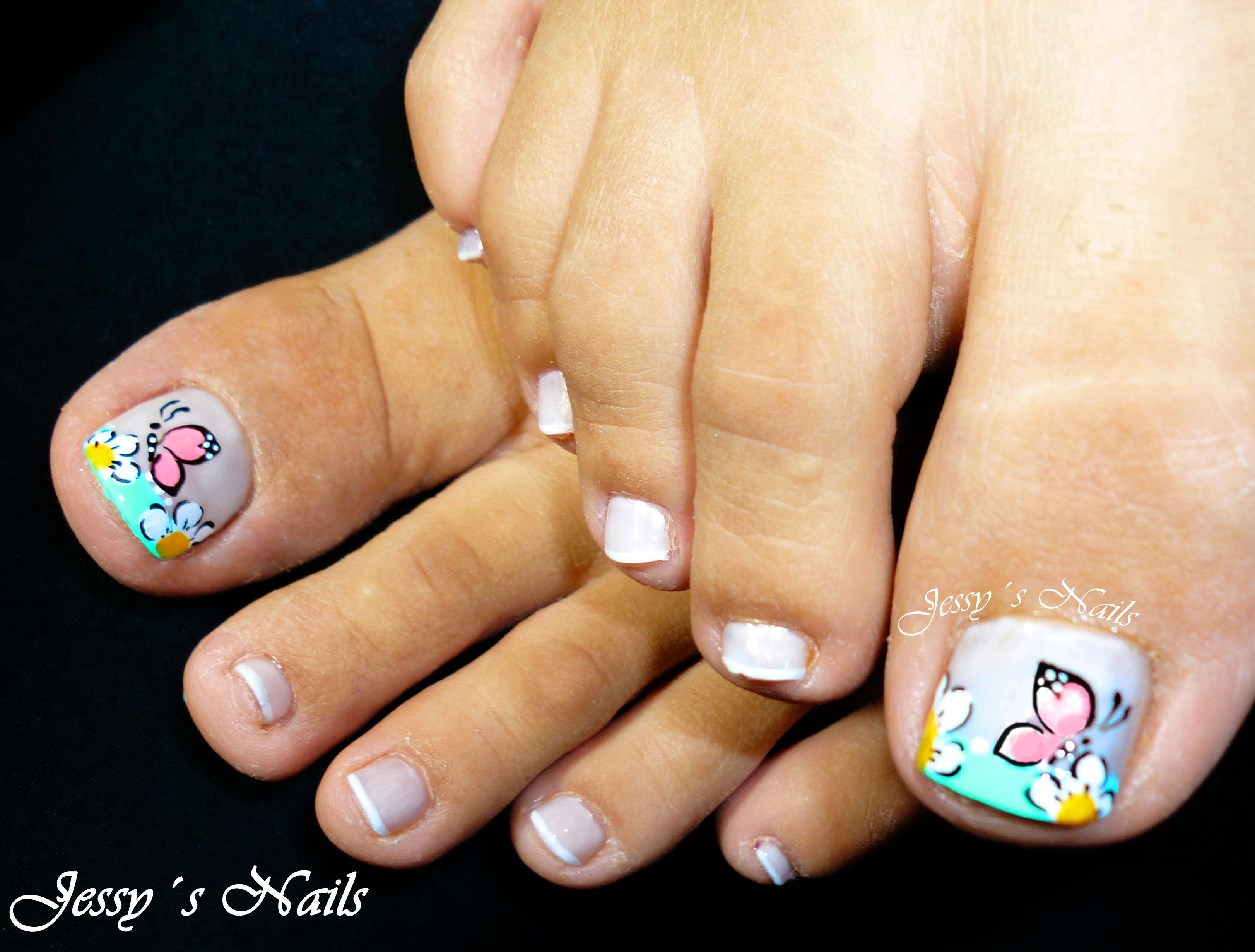 Decoraci n de u as de los pies 181 dise os hermosos - Unas de pies decoradas ...
