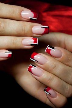 180 Imagenes De Unas Decoradas Color Dorado Azul Rojo Rosa Negro