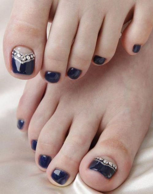 unas decoradas de los pies y manos