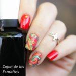 uñas mandala floral