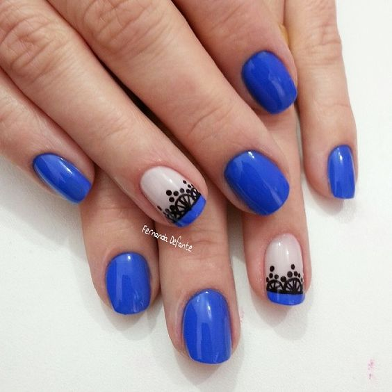 U as azules decoradas la ltima moda - Unas azules decoradas ...