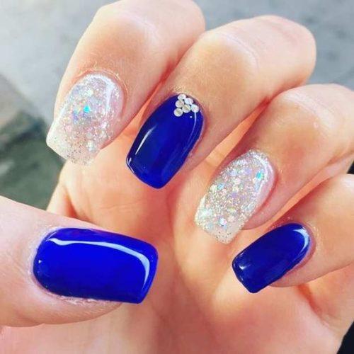 Uñas Azules Decoradas La última Moda