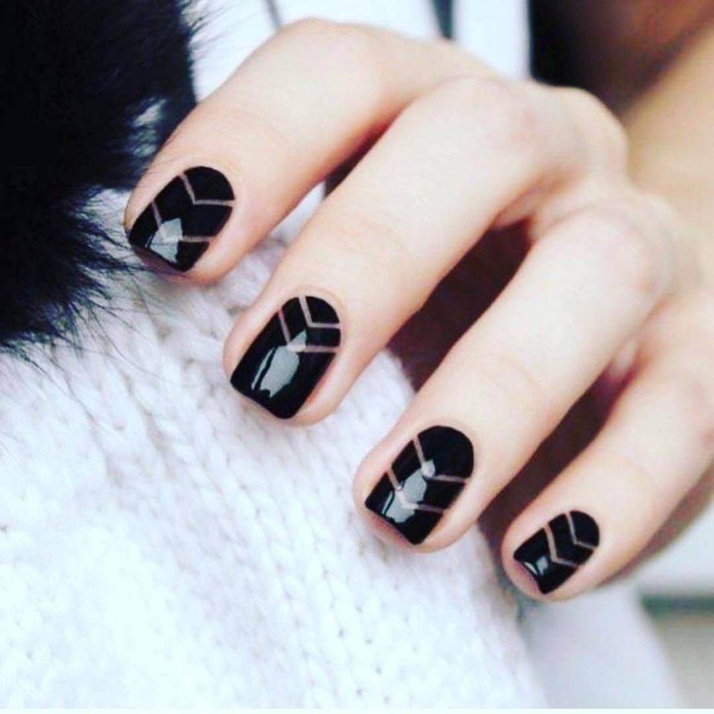 Mejores 80 Diseños De Uñas Decoradas Color Negro