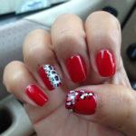 uñas rojas decoradas Maravilloso Uas Color Rojo Con Piedras Uas Color Rojo Con Piedras Puedes