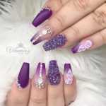 purple acrylic nail designs Trendy 186 best Acrylic Nails images on Pinterest